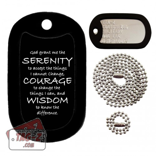 Tag-Z Serenity Prayer Dog Tag Set