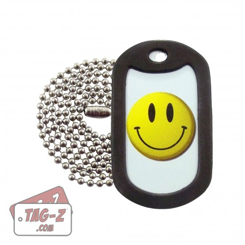 Tag-Z Smiley Face Dog Tag Necklace