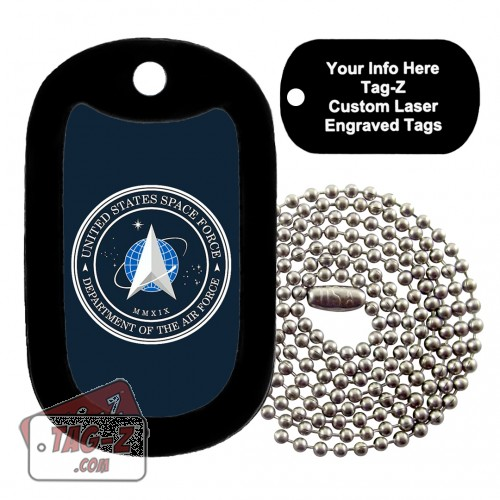 SPACE FORCE Logo Custom ENGRAVED Necklace Tag-Z