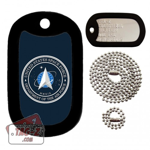 SPACE FORCE Logo Dog Tag Full Set Tag-Z