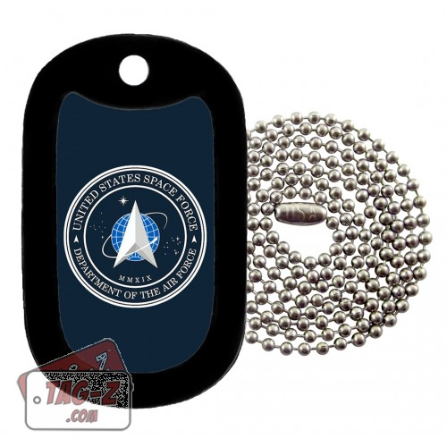 SPACE FORCE Logo Dog Tag Necklace