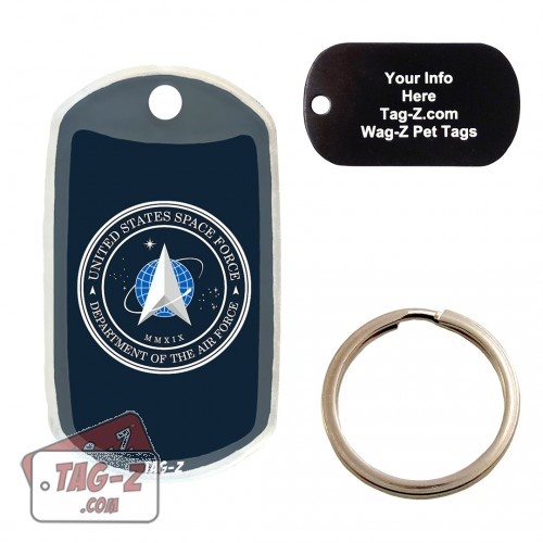 SPACE FORCE Logo Custom ENGRAVED Pet Tag Tag-Z