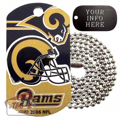 St. Louis Rams NFL Military Dog Tag Necklace