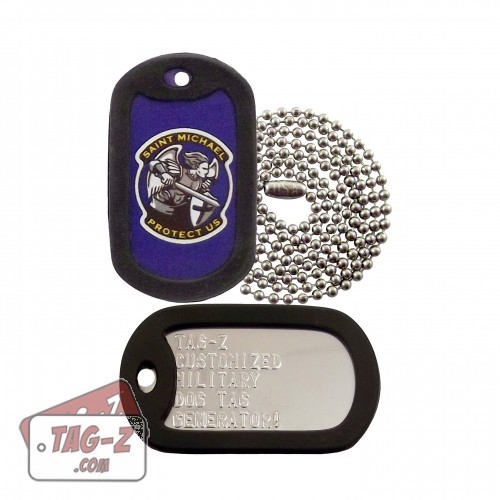 St. Michael Protect Us Dog Tag Set