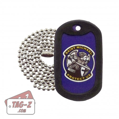 Tag-Z St. Michael Protect Us Dog Tag Necklace