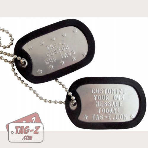 Tag-Z Custom Military Dog Tags - Personalized ID - Tag Generator