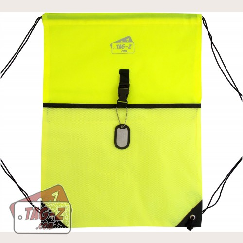 Neon Yellow Drawstring Backpack