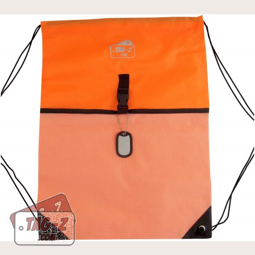 Orange Drawstring Backpack