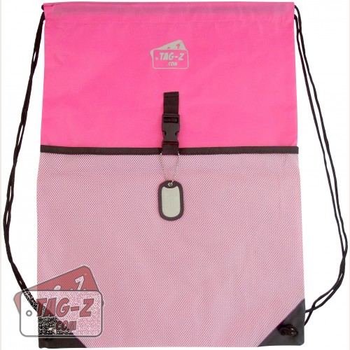 Pink Drawstring Backpack
