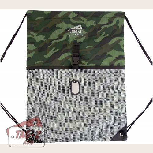 Woodland Camo Drawstring Backpack
