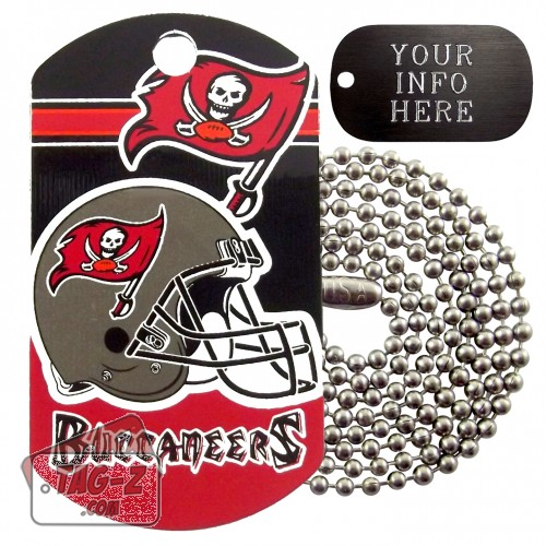 Tampa Bay Buccaneers NFL Military Dog Tag Necklace