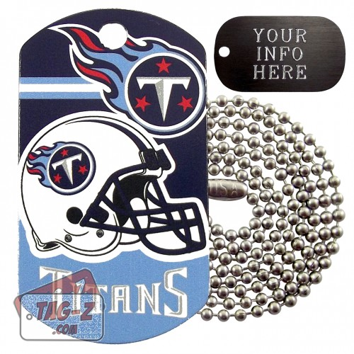 Tennessee Titans NFL Military Dog Tag Necklace