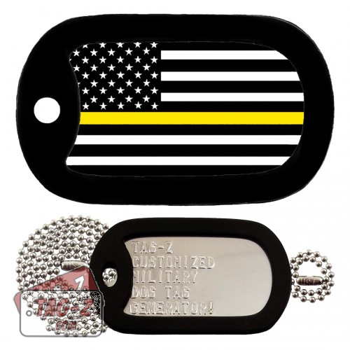 Thin Gold Line Dispatchers Dog Tag Full Set Tag-Z