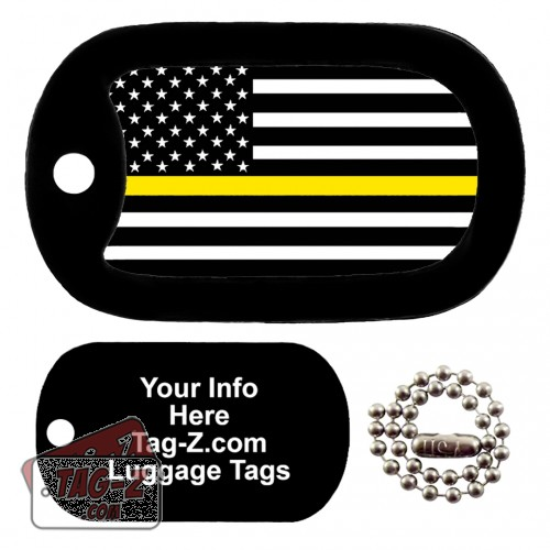 Thin Gold Line Dispatchers LUGGAGE TAG Tag-Z