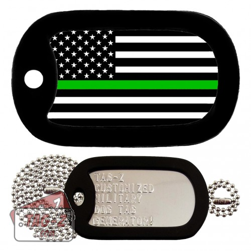 Thin Green Line - Military & Border Patrol Dog Tag Full Set Tag-Z