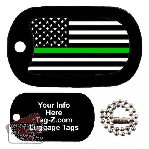 Thin Green Line - Military & Border Patrol LUGGAGE TAG Tag-Z