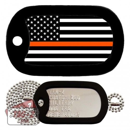 Thin Orange Line - Search & Rescue Dog Tag Full Set Tag-Z