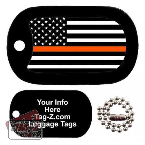 Thin Orange Line - Search & Rescue LUGGAGE TAG Tag-Z