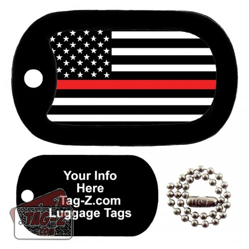 thin red line flag LUGGAGE TAG Tag-Z
