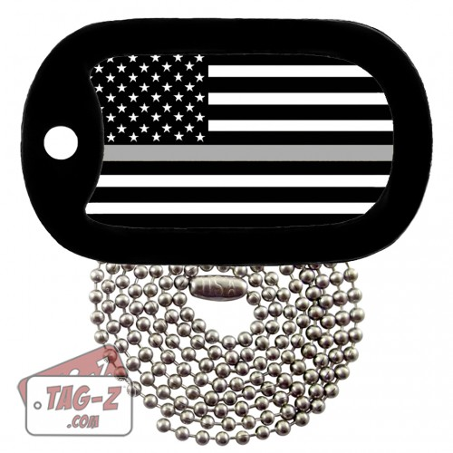 Thin Silver Line - Corrections Dog Tag Necklace