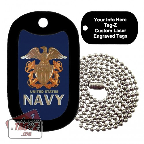 US NAVY Logo Custom ENGRAVED Necklace Tag-Z
