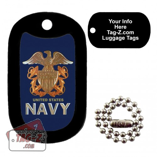 US NAVY Logo LUGGAGE TAG Tag-Z