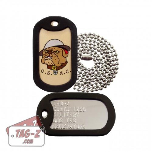 USMC Bulldog Tagtoo-Z Dog Tag Set