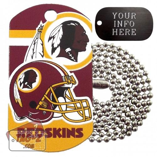 Washington Redskins NFL Military Dog Tag Necklace